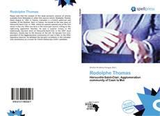 Copertina di Rodolphe Thomas