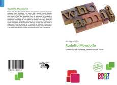 Borítókép a  Rodolfo Mondolfo - hoz