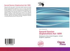 Portada del libro de Second Session (Explanation) Act 1899