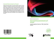 Portada del libro de Second Government of Israel