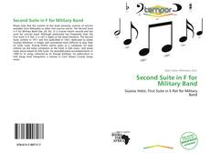 Capa do livro de Second Suite in F for Military Band