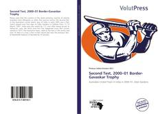 Bookcover of Second Test, 2000–01 Border-Gavaskar Trophy