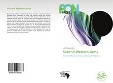 Capa do livro de Second Western Army