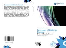 Bookcover of Secretary of State for Canada
