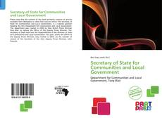 Bookcover of Secretary of State for Communities and Local Government