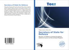Buchcover von Secretary of State for Defence