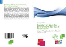 Bookcover of Secretary of State for Environment, Food and Rural Affairs