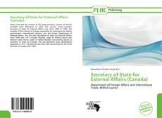 Portada del libro de Secretary of State for External Affairs (Canada)