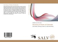 Bookcover of Secretary of State of Colorado