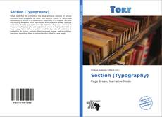 Capa do livro de Section (Typography)