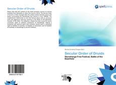 Bookcover of Secular Order of Druids