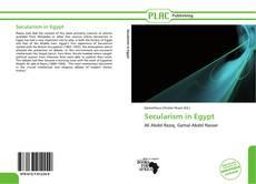 Buchcover von Secularism in Egypt