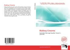 Rodney Croome kitap kapağı