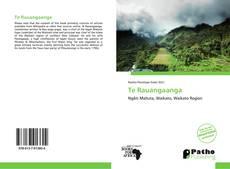 Bookcover of Te Rauangaanga