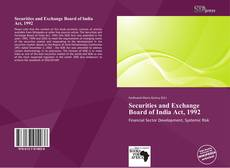 Buchcover von Securities and Exchange Board of India Act, 1992