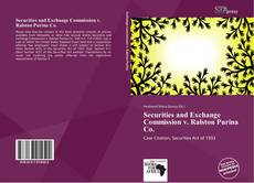 Buchcover von Securities and Exchange Commission v. Ralston Purina Co.