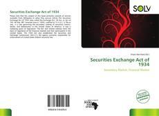 Capa do livro de Securities Exchange Act of 1934