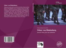 Buchcover von Oskar von Hindenburg