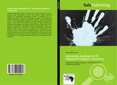 Bookcover of University Institute of IT, Himachal Pradesh University