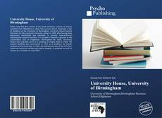 Bookcover of University House, University of Birmingham