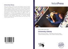 Bookcover of University Library