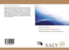 Bookcover of Security Advisory Opinion