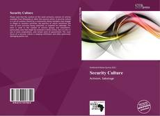 Buchcover von Security Culture