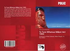 Te Ture Whenua Māori Act 1993 kitap kapağı