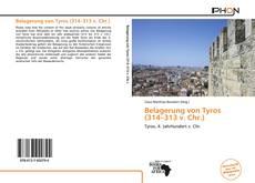 Bookcover of Belagerung von Tyros (314–313 v. Chr.)