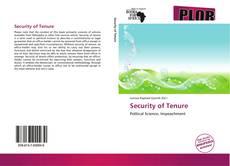 Security of Tenure kitap kapağı