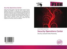 Bookcover of Security Operations Center
