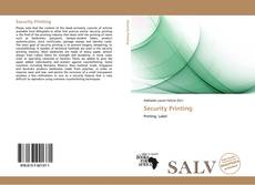Bookcover of Security Printing
