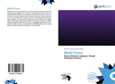 Capa do livro de Wata Fares