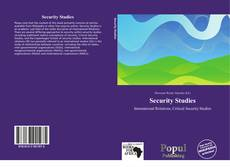 Security Studies的封面