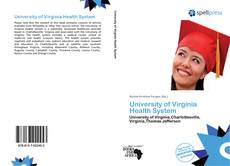 Bookcover of University of Virginia Health System