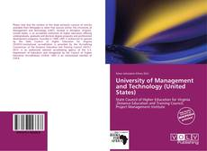 Buchcover von University of Management and Technology (United States)