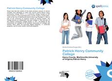 Bookcover of Patrick Henry Community College