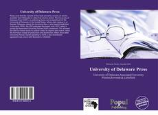 Couverture de University of Delaware Press