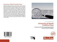 Borítókép a  University of North Carolina Press - hoz