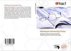 Wesleyan University Press的封面