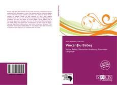Portada del libro de Vincenţiu Babeş