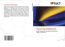 Bookcover of University Settlement