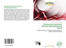 Capa do livro de University Students' African Revolutionary Front