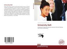 Portada del libro de University Halt