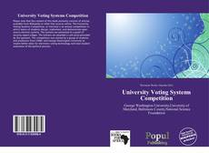 University Voting Systems Competition kitap kapağı