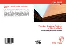 Portada del libro de Teacher Training College of Bielsko-Biala
