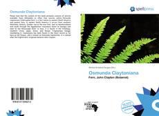 Bookcover of Osmunda Claytoniana