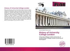 Bookcover of History of University College London