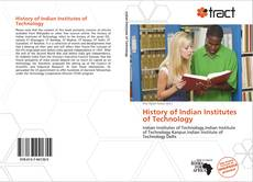 Bookcover of History of Indian Institutes of Technology