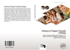 Buchcover von History of Upper Canada College